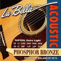 Струны для двенадцатиструнной акустической гитары La Bella 7GP12XL