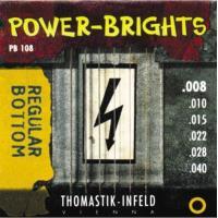 Струны для электрогитары Thomastik PB108 Power-Brights