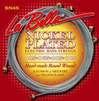 Струны для 4-струнной бас-гитары La Bella SN45