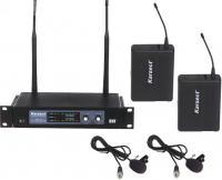 Купить  Радиосистема с 2-мя петличными микрофонами KARSECT KRU-102/KLT-9U