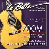 Струны для акустической гитары La Bella 700 M