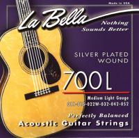 Струны для акустической гитары La Bella 700 L