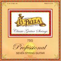 Струны для семиструнной классической гитары La Bella 7SG