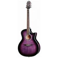 Гитара электроакустическая фиолетовая CRAFTER GCL 80/TPS купить в Москве