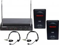 Купить  Радиосистема с 2-мя головными микрофонами KARSECT KRV-20/KLT-80V/HT-1A