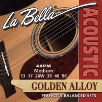Струны для акустической гитары La Bella 40PM