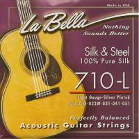 Струны для акустической гитары La Bella 710 L