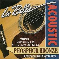 Струны для акустической гитары La Bella 7GPCL