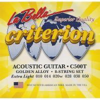 Струны для акустической гитары La Bella C500T